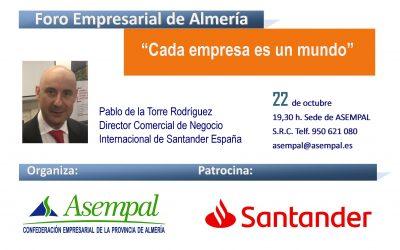 """""""Cada empresa es un mundo"""", nueva edición del Foro Empresarial de ASEMPAL para el 22 de octubre"""