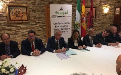 Encuentro de trabajo de Asempal con la presidenta de la Junta de Andalucía