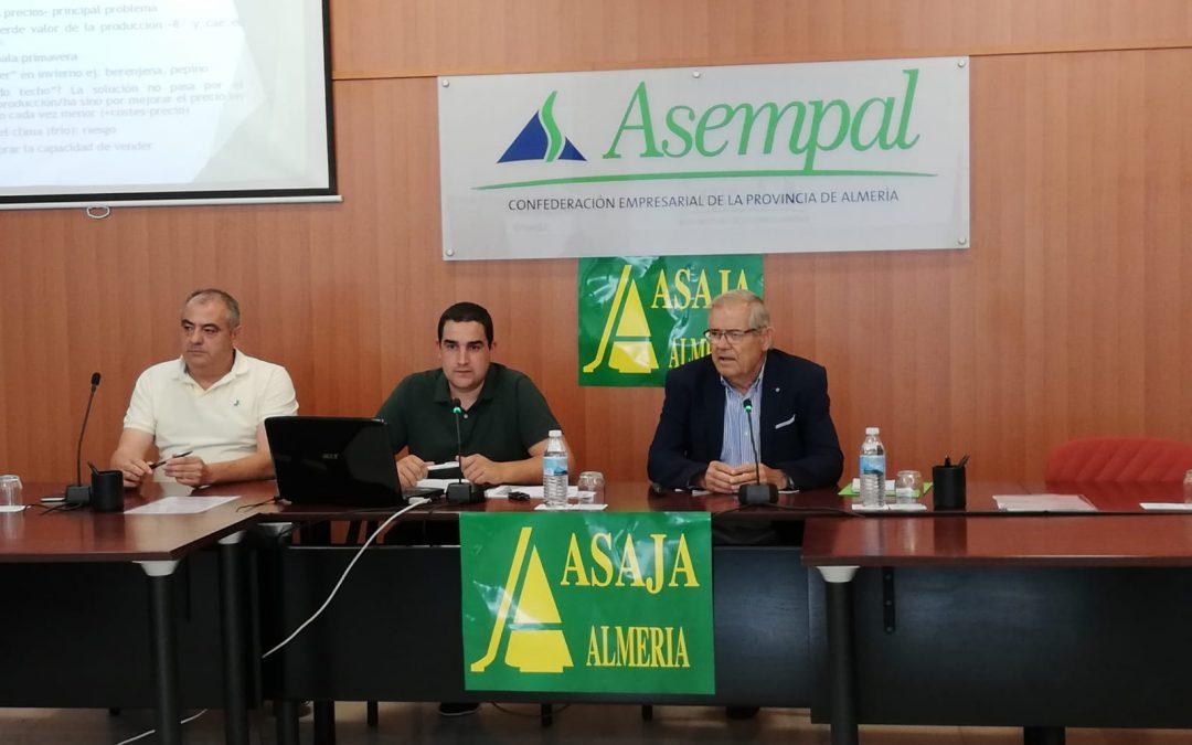 ASAJA-Almería hace balance de la última campaña hortícola en la provincia.