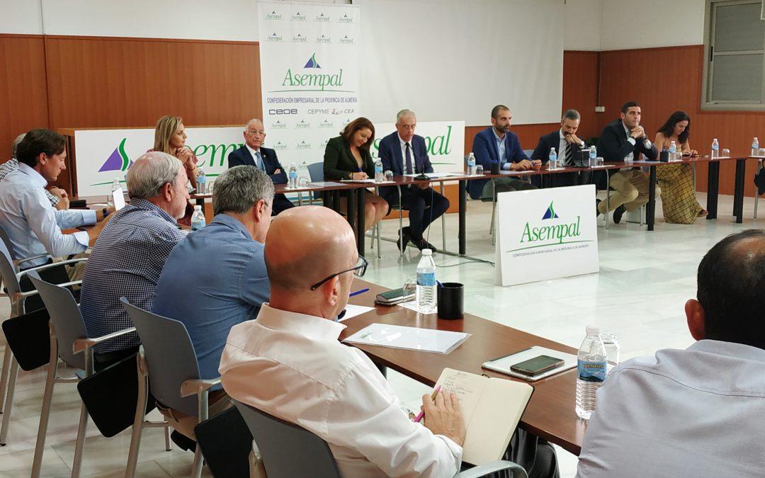 ASEMPAL propone a los consejeros de Agricultura y Desarrollo Sostenible y de Hacienda, Industria y Energía una batería de líneas estratégicas para que Almería sea epicentro europeo del Agua, las Energías Renovables y la producción de Alimentos